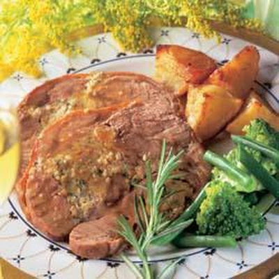 Asian Stuffed Shoulder of Lamb