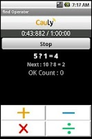 Screenshot of find arithmetic Operator Game