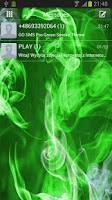 Screenshot of GO SMS Pro Green Smoke Theme