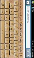 Screenshot of Word Tiles Go Keyboard Skin
