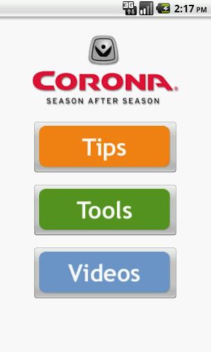 Corona Tools Garden App