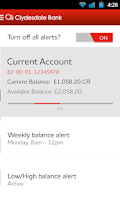 Screenshot of Clydesdale Bank Mobile Banking