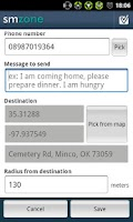Screenshot of Auto Sms By Zone (LITE)