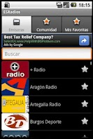 Screenshot of ESRadios