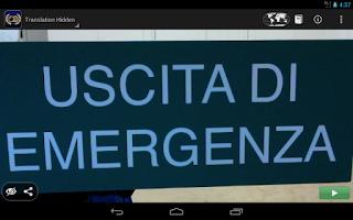 Screenshot of Word Lens Translator
