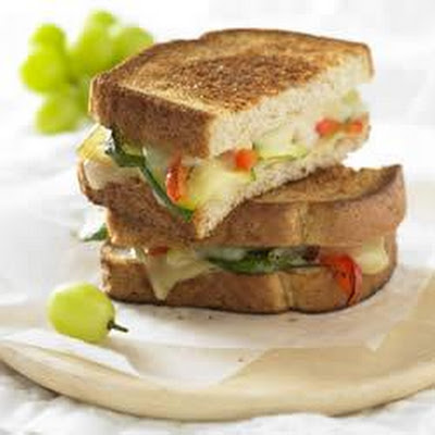 Grilled Gruyere and Roasted Vegetable Sandwich