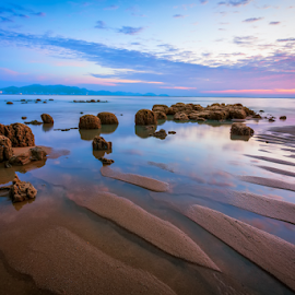 ... the sand corals by Keris Tuah - Landscapes Sunsets & Sunrises ( canon, water, colorful, waterscape, colors, tuah, landscaping, landscape, canon eos, sun, colours, colour, keris, blue sky, red, colourful, blue, color, sunset, landscape photography, keristuah, landscapes, keris tuah )