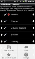 Screenshot of Cricket Scorer+ for Android