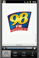 Screenshot of 98 FM Campina Grande