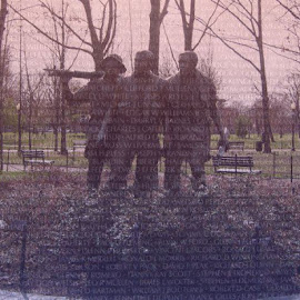 This is the Vietnam Statue and the Vietnam wall together! This is in honor of our military that sacrificed there life for our country.  by Cynthia Cota - News & Events World Events