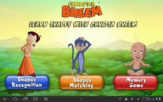 Screenshot of Learn Shapes With Bheem