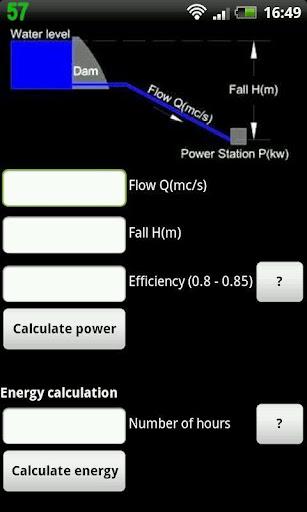 Hydropower calculator