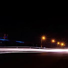 Light Trail by Soumin Saha - Abstract Light Painting ( abstract, light trails, light, nightscape )