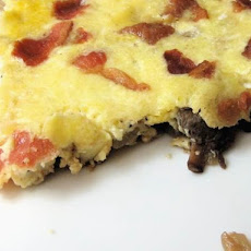 Healthy & Delicious: Frittata with Mushrooms, Bacon, and Parmesan