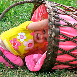 The Baby and The Basket by Cheri Bryan - Babies & Children Children Candids (  )