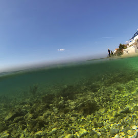 The man who sold the world  by Davor Strenja - Landscapes Underwater ( sky, blue, bibinje, green, croatia, sea, sun )