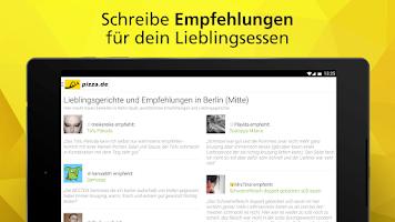 Screenshot of pizza.de - order food online