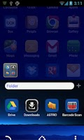 Screenshot of Blue Moon Go Launcher Ex Theme