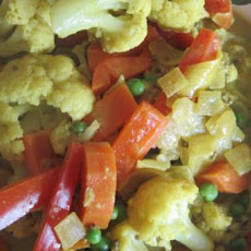 Vegetable in Coconut Curry Sauce