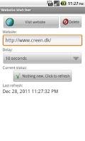 Screenshot of Website Watcher