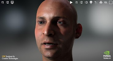 Screenshot of NVIDIA Tegra FaceWorks Demo