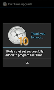 DietTime 10-day Diet Set - screenshot