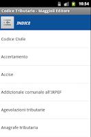 Screenshot of Codice Tributario