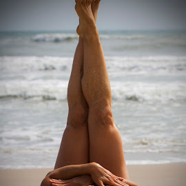 Sand and Body by Andrea Riofrio Mena - Nudes & Boudoir Artistic Nude ( sand, body, fit, sexy, romantic, budoir, tan )