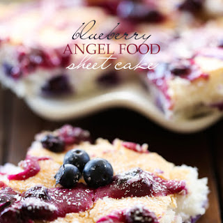 Blueberry Angel Food Sheet Cake