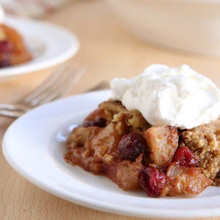 Slow-Cooker Apple-Cranberry Dump Cake