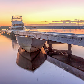 Toronto Sunrise by Jaki Shipp - Novices Only Landscapes ( toronto, australia, nsw, sunrise, boat, lake macquarie )