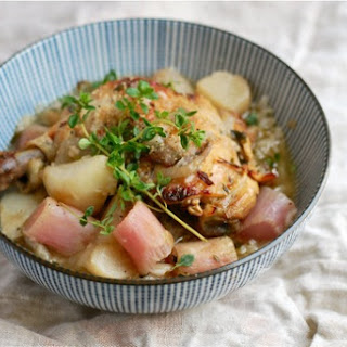 Braised Chicken Legs With Turnips And Radishes