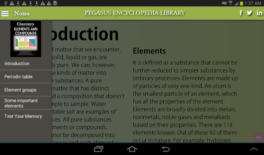 Chemistry-elements & compounds - screenshot