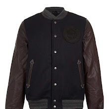 Bellfield 'Bernoot' Navy Varsity Jacket* Blue
