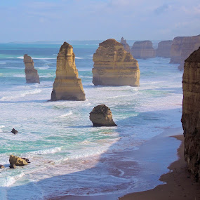 Twelve Apostles, Victoria, Australia by Di Mc - Novices Only Landscapes ( blue, waves, sea, ocean, rocks,  )