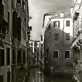 Venice canal by Jacob Padrul - City,  Street & Park  Neighborhoods ( soothing, venice canal, venice, old town, italy )
