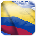 3D Colombia Flag icon