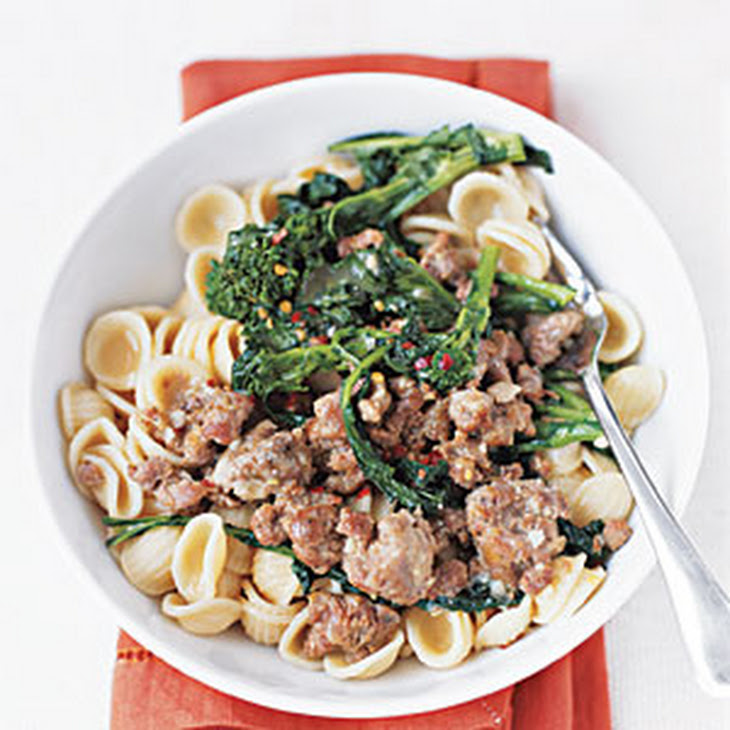 Pasta with Broccoli Rabe and Sausage Recipe | Yummly