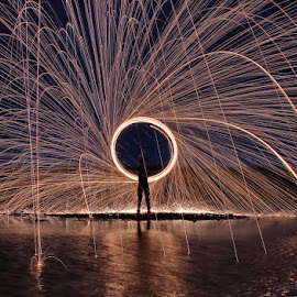 by Karthi Keyan - Abstract Light Painting ( abstract, fineart, steel wool, people )
