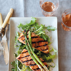 Grilled Salmon with Miso Glaze