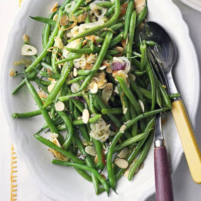Green Beans With Shallots, Garlic & Toasted Almonds
