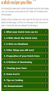 Dutch Oven Recipes - screenshot