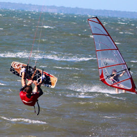 Move quick ,I hope we don't crash !! by Colette Edwards - Sports & Fitness Watersports (  )