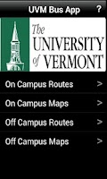 Screenshot of UVM Bus App