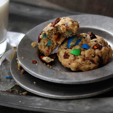 M&M Pretzel Oatmeal Cookie