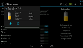 Screenshot of Bubble Energy Saver