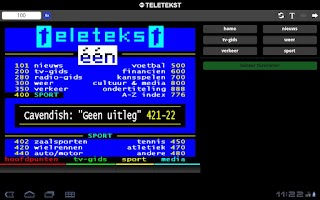 Screenshot of één Teletekst