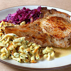 Apple-Stuffed Pork Chops with Cider Sauce Recipe