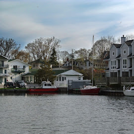 The Picton Harbour Inn by Hannah Cohen - Buildings & Architecture Office Buildings & Hotels ( inn, harbor, fall, harbour, marina, boat, picton, country )