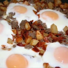 Bacon and Sausage Hash